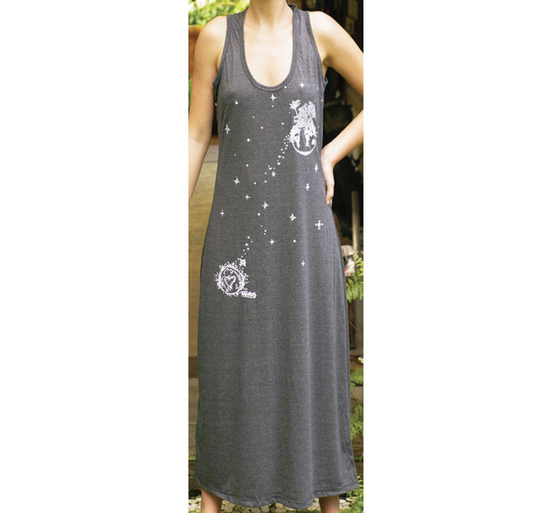 LONG DRESS BLACK FLOATING PLANET