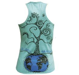 TankTOP Fille BLUE ONE WORLD