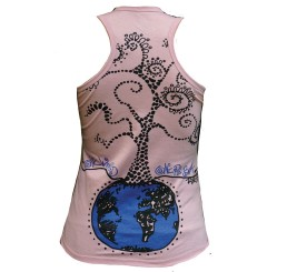TankTOP Fille PINK ONE WORLD