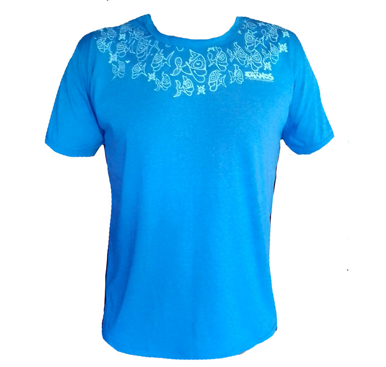 Tshirt FISH BLUE