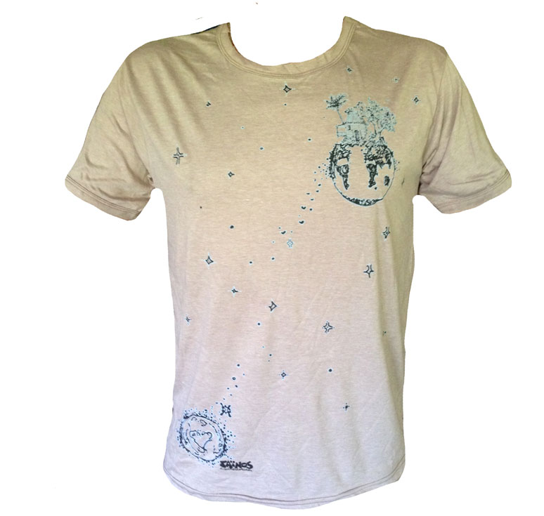 TShirt BEIGE FLOATING PLANET