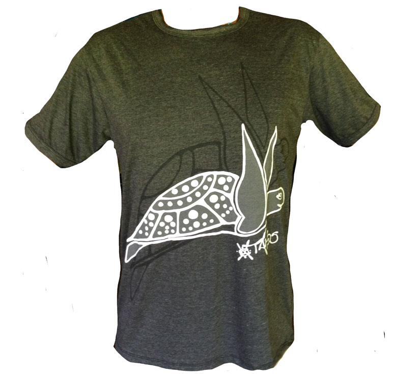 TShirt NOIR FLYING TURTLE