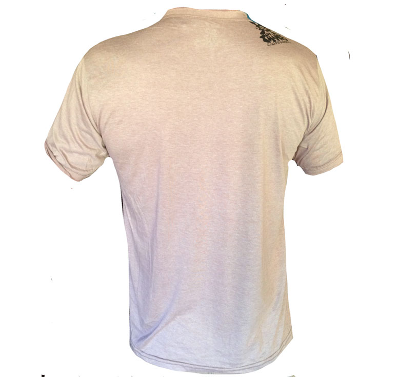 TShirt COL V BEIGE FLOATING PLANET