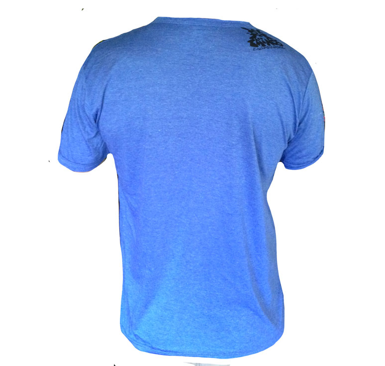 TShirt COL V BLEU NATIVE HEAD